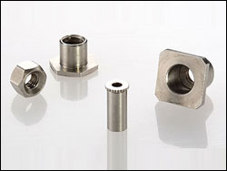 Hex nut, Square threaded spacer